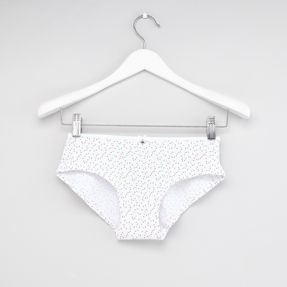 Printed Boyshorts with Bow Applique - Set of 2