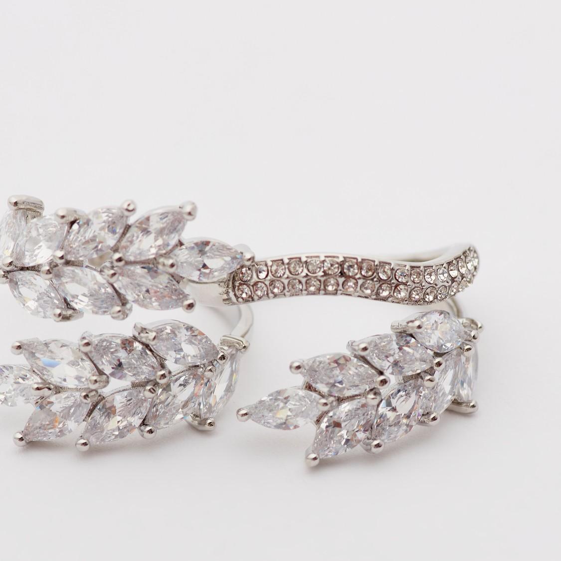 Set of 2 - Embellished Finger Rings