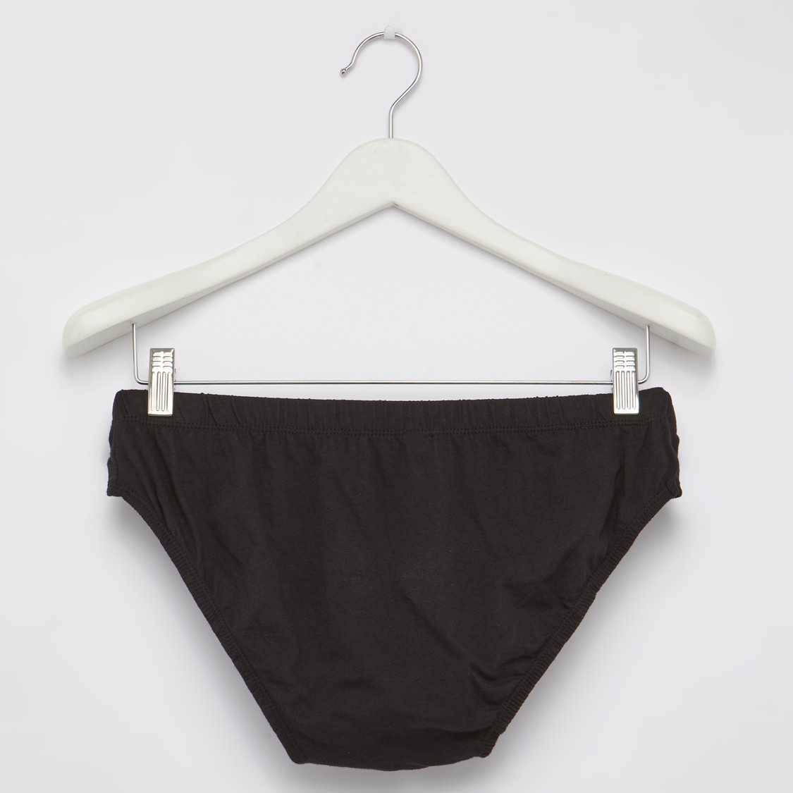 Solid Briefs with Elasticised Waistband