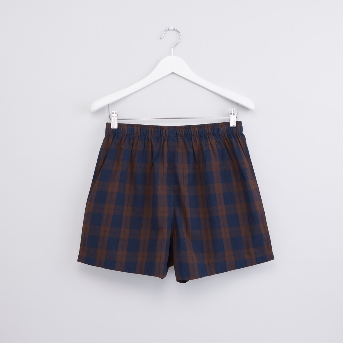 Chequered Boxer Briefs with Elasticised Waistband - Set of 2