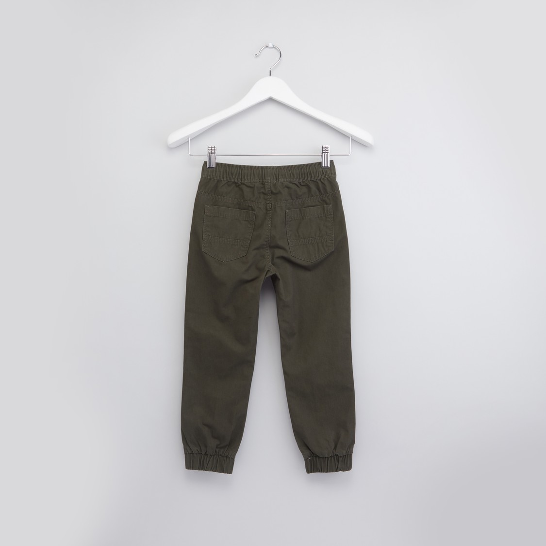 Joggers with Pockets and Cuffed Hems