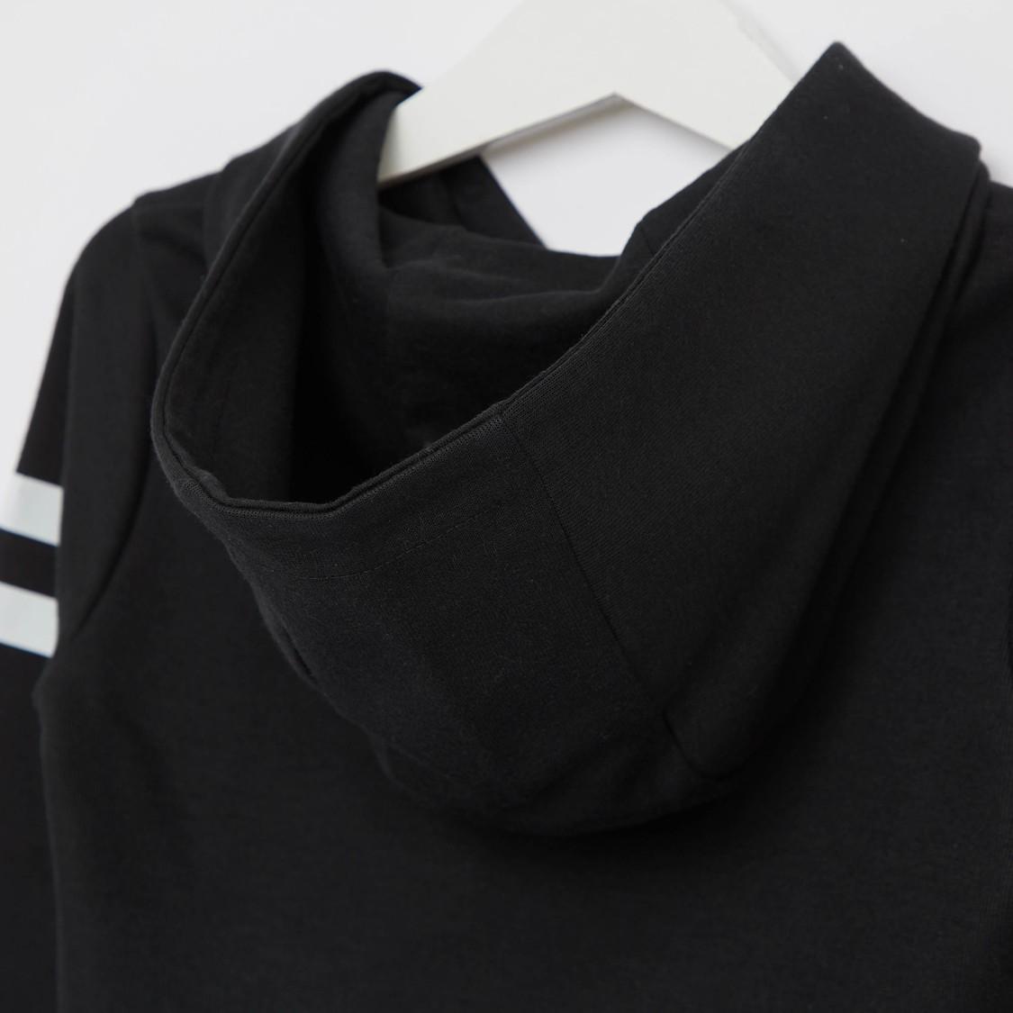 Sequin Detail Hoodie with Long Sleeves
