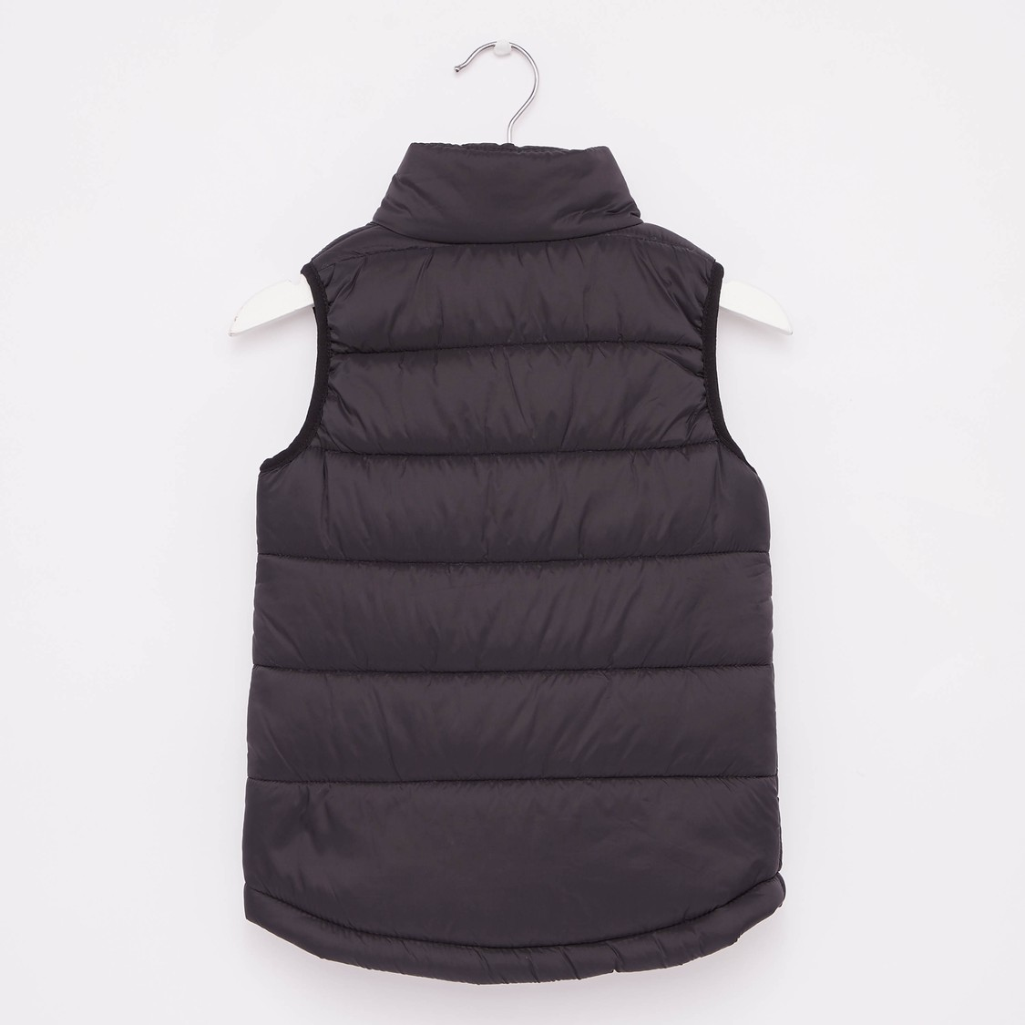 Solid Sleeveless Gilet Jacket