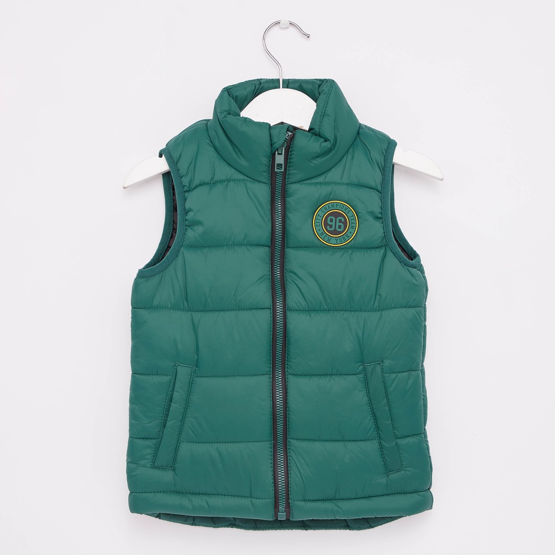Solid Sleeveless Jacket