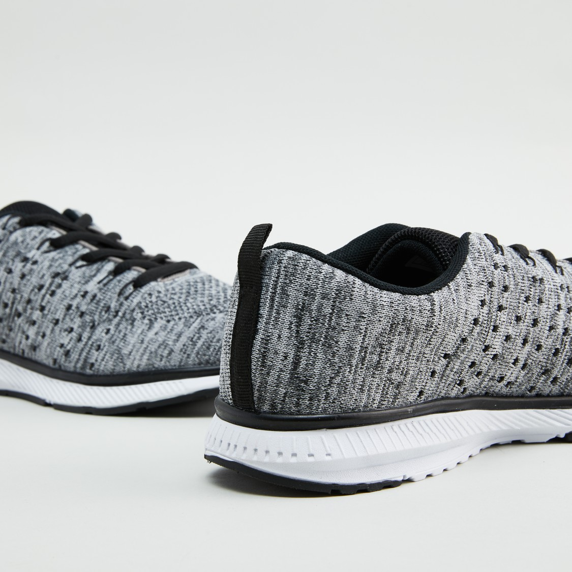 Textured Low Top Lace Up Shoes