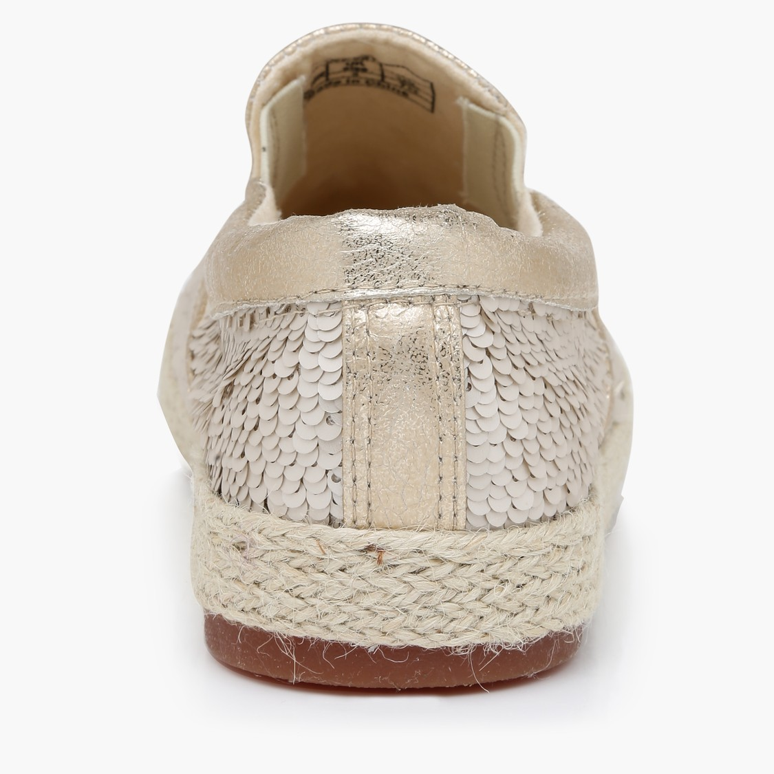 Sequin Design Slip-On Shoes with Elasticised Gussets