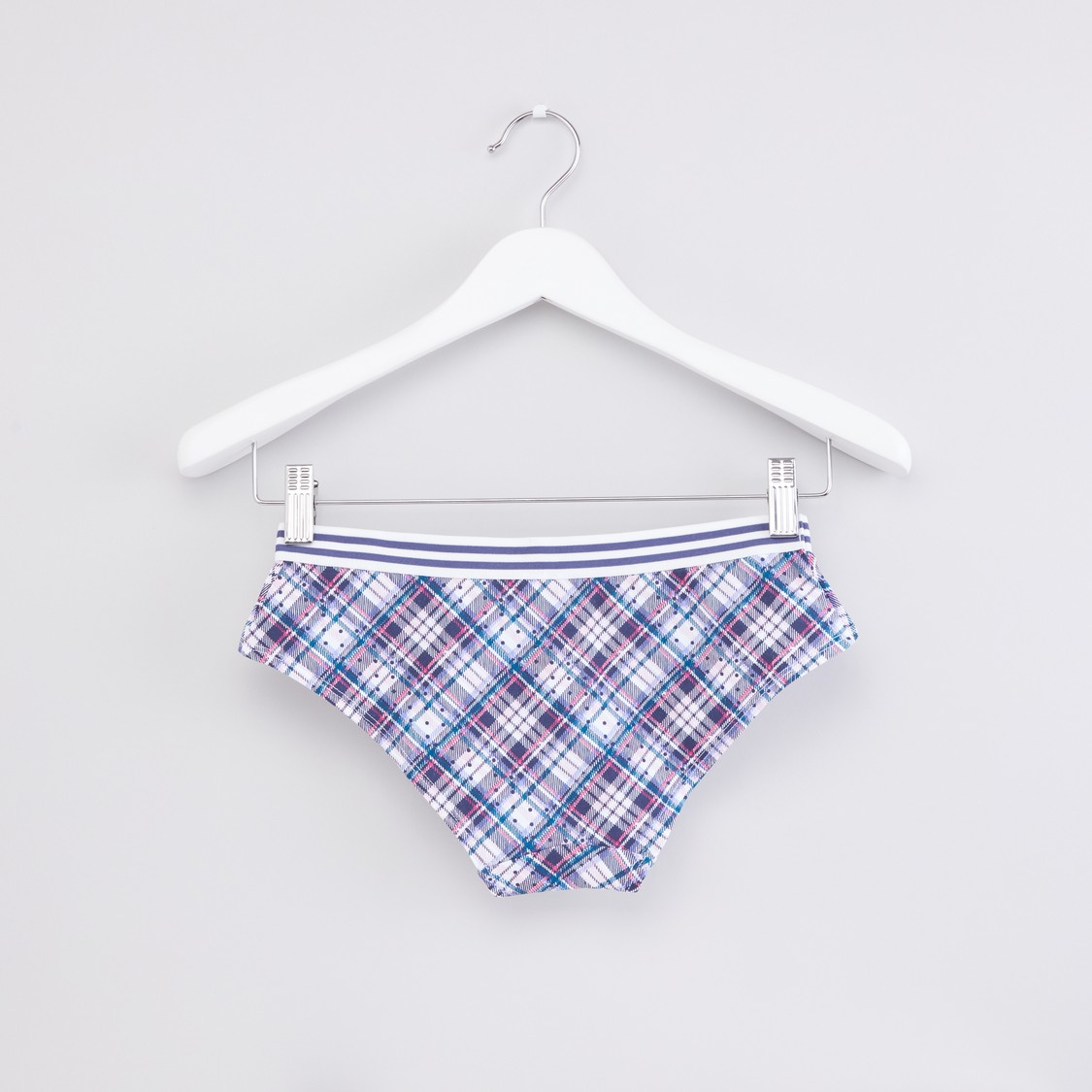 Chequered Brief with Elasticised Waistband