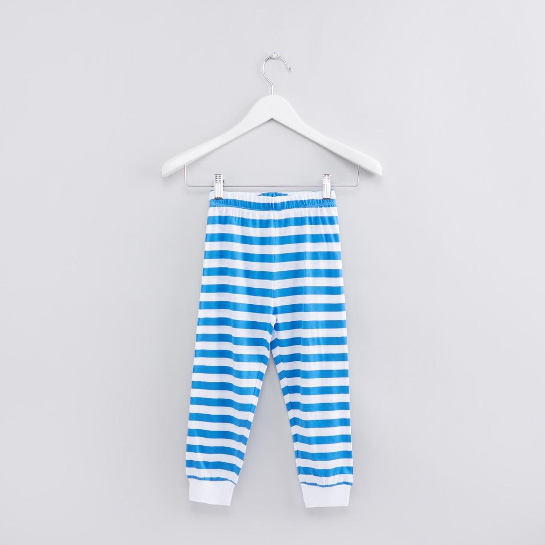 Printed Long Sleeves T-Shirt with Full Length Jog Pants - Set of 2