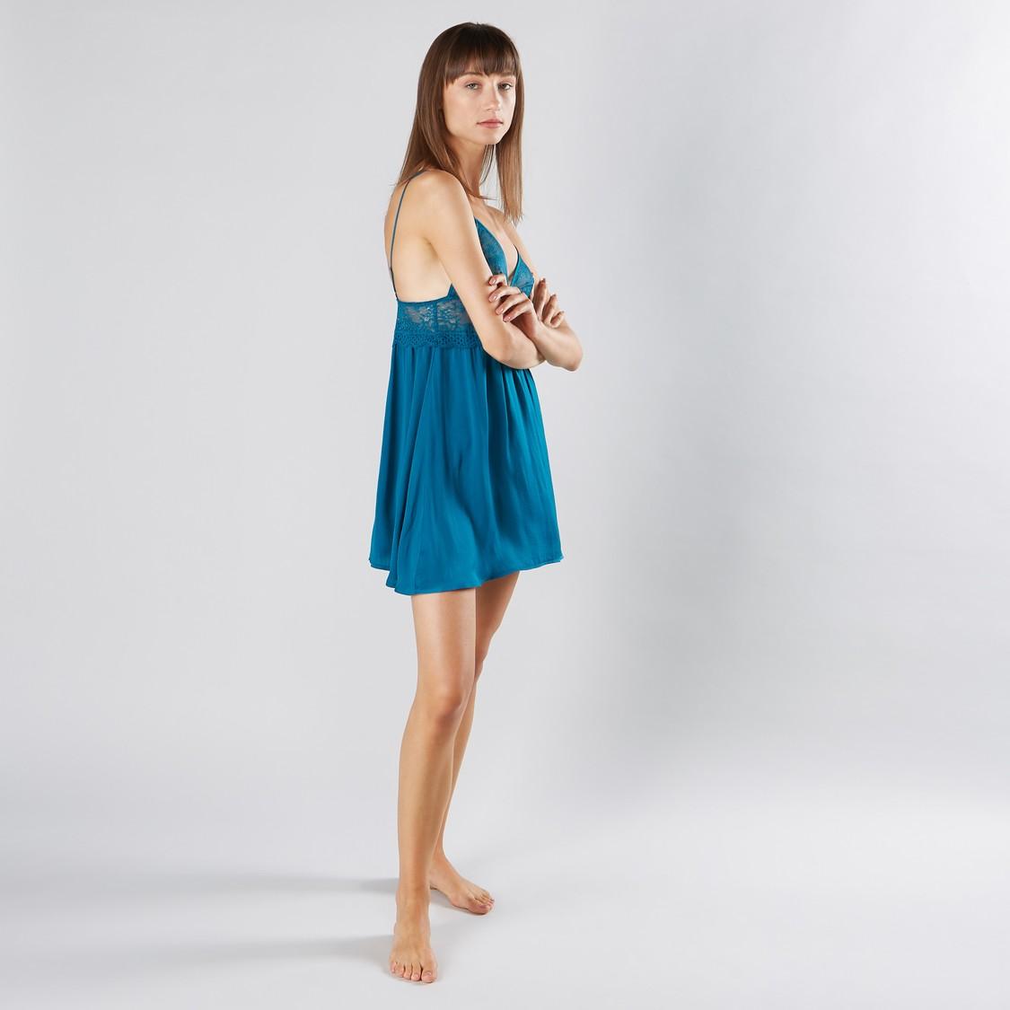 Lace Detail Babydoll Dress