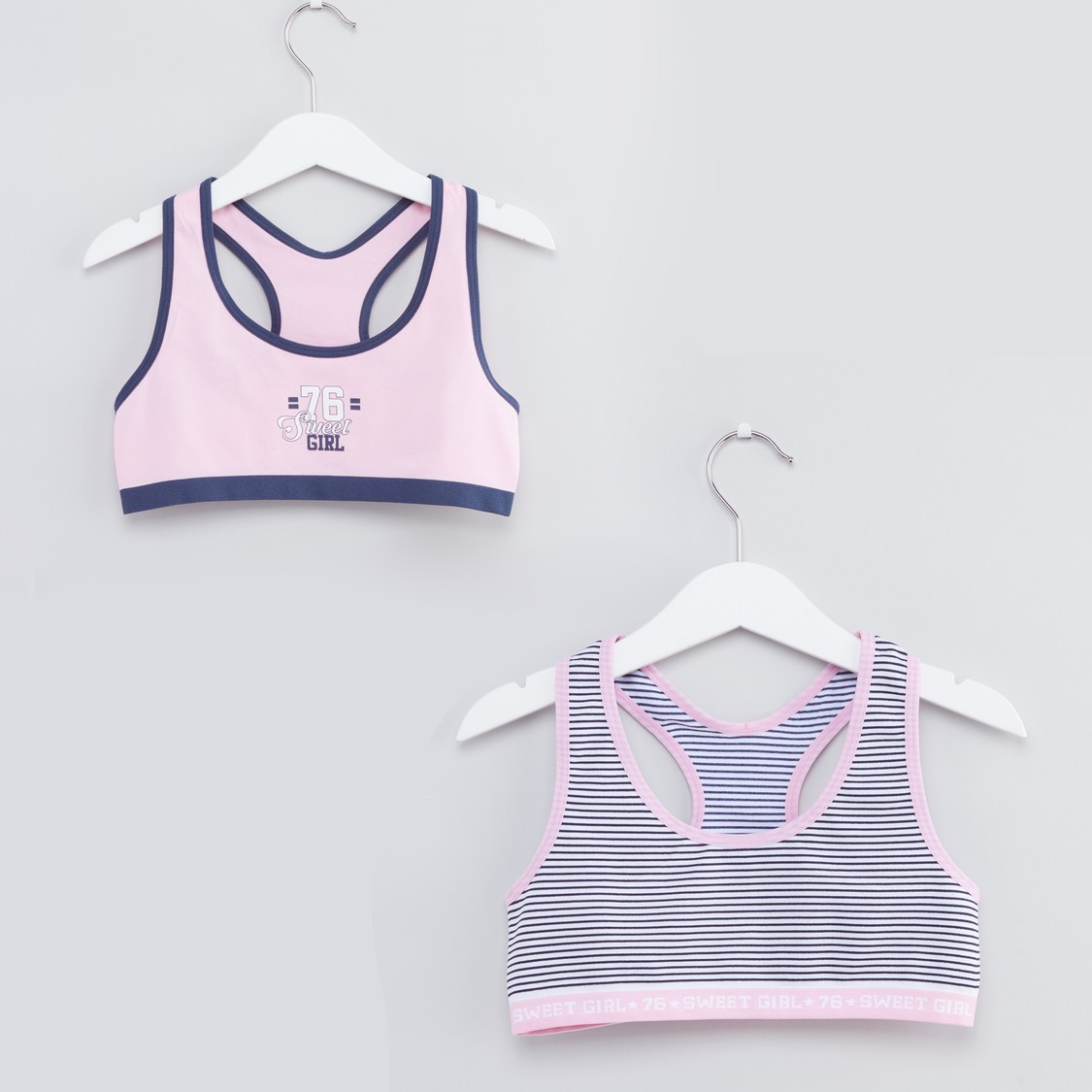 Set of 2 - Printed Sports Bra with Racerback