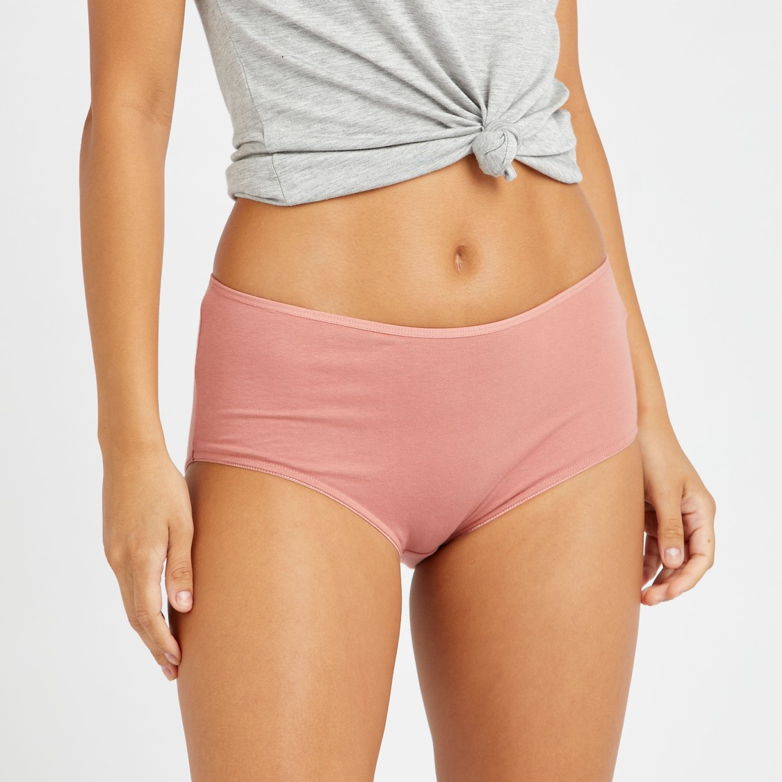 Set of 5 - Assorted Midi Briefs with Elasticised Waistband