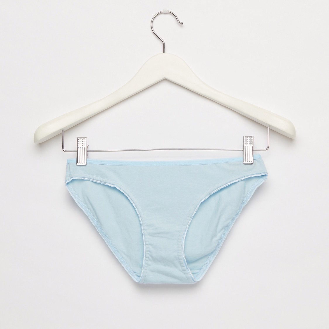 Set of 5 - Solid Hipster Briefs with Elasticised Waistband