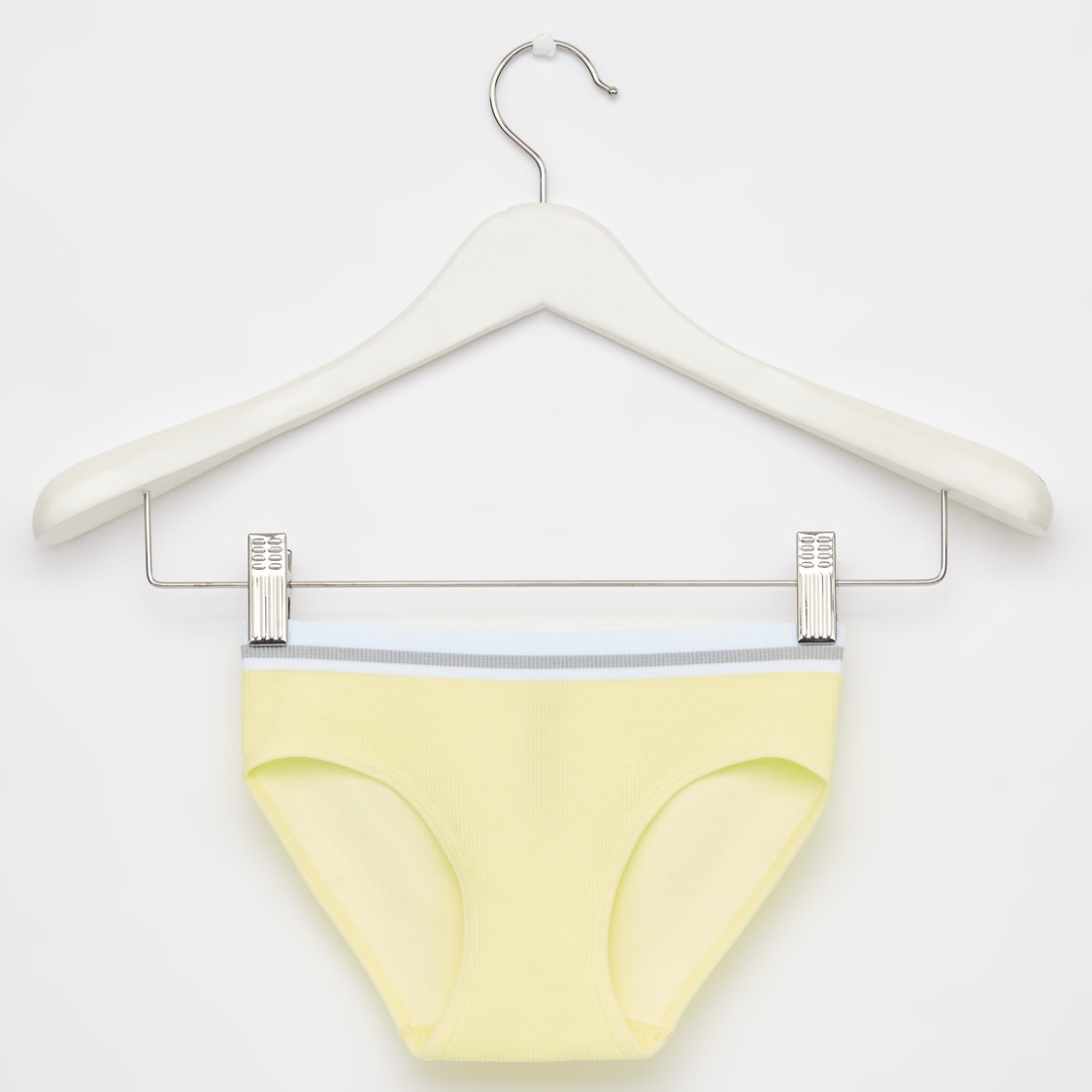 Set of 2 - Textured Briefs with Elasticised Waistband