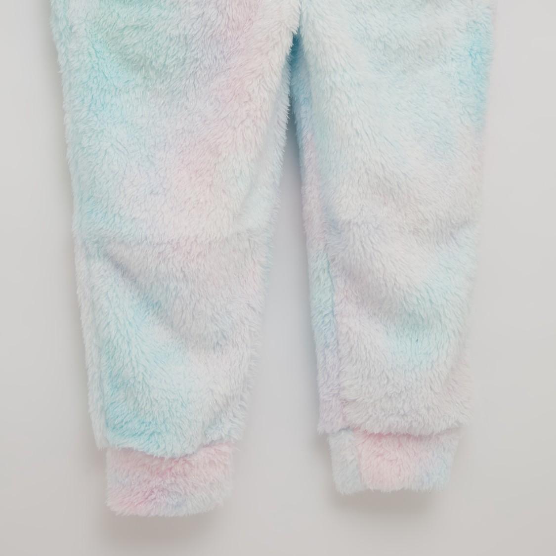 بدلة نوم بارزة الملمس بأكمام طويلة يونيكورن - تشكيلة كوزي