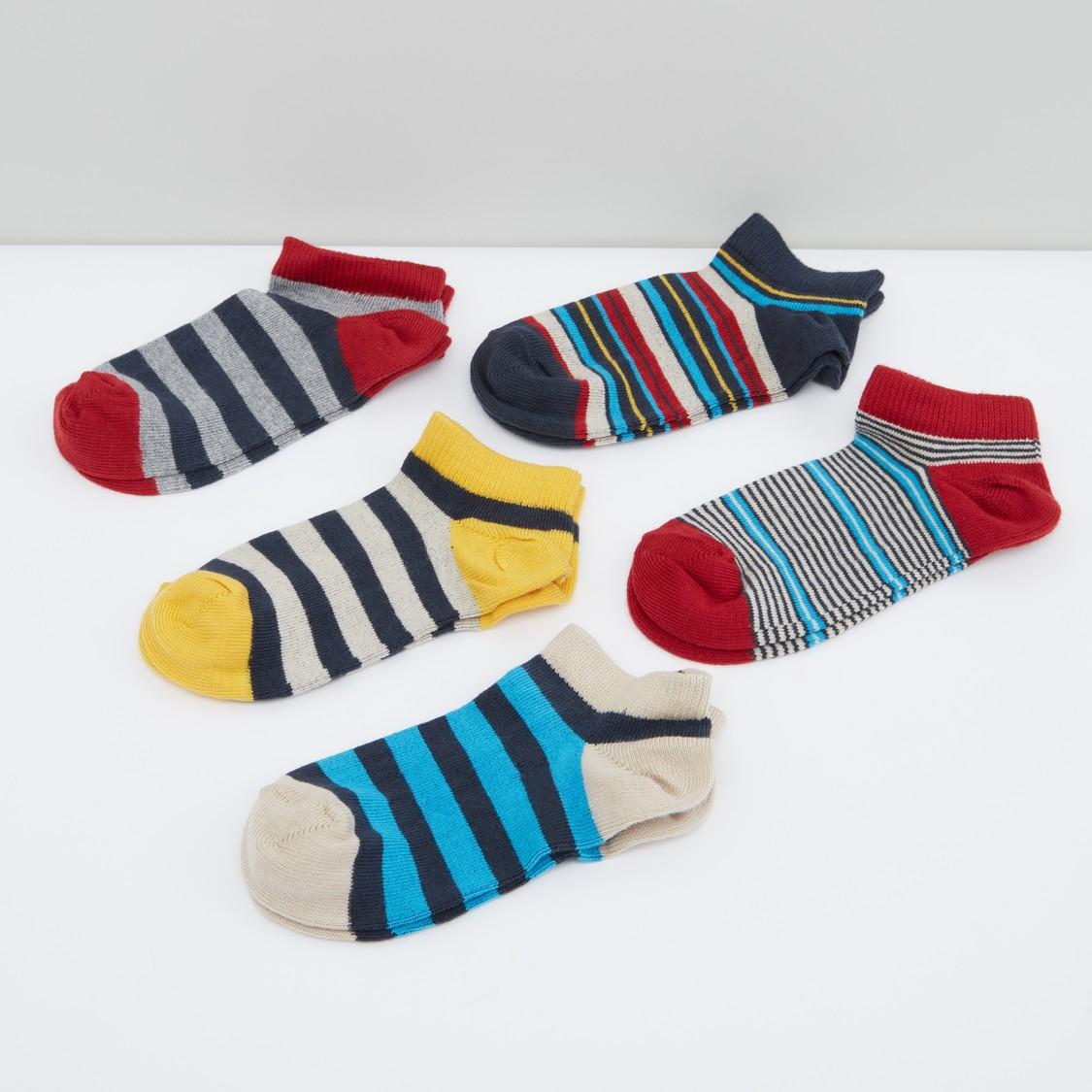 Striped Ankle Length Socks - Set of 4
