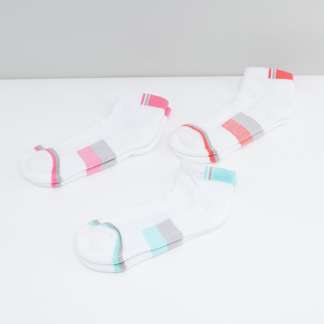 Textured Quarter Length Socks - Set of 3