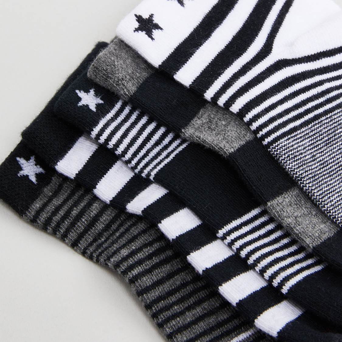 Set of 5 - Striped Ankle Length Socks