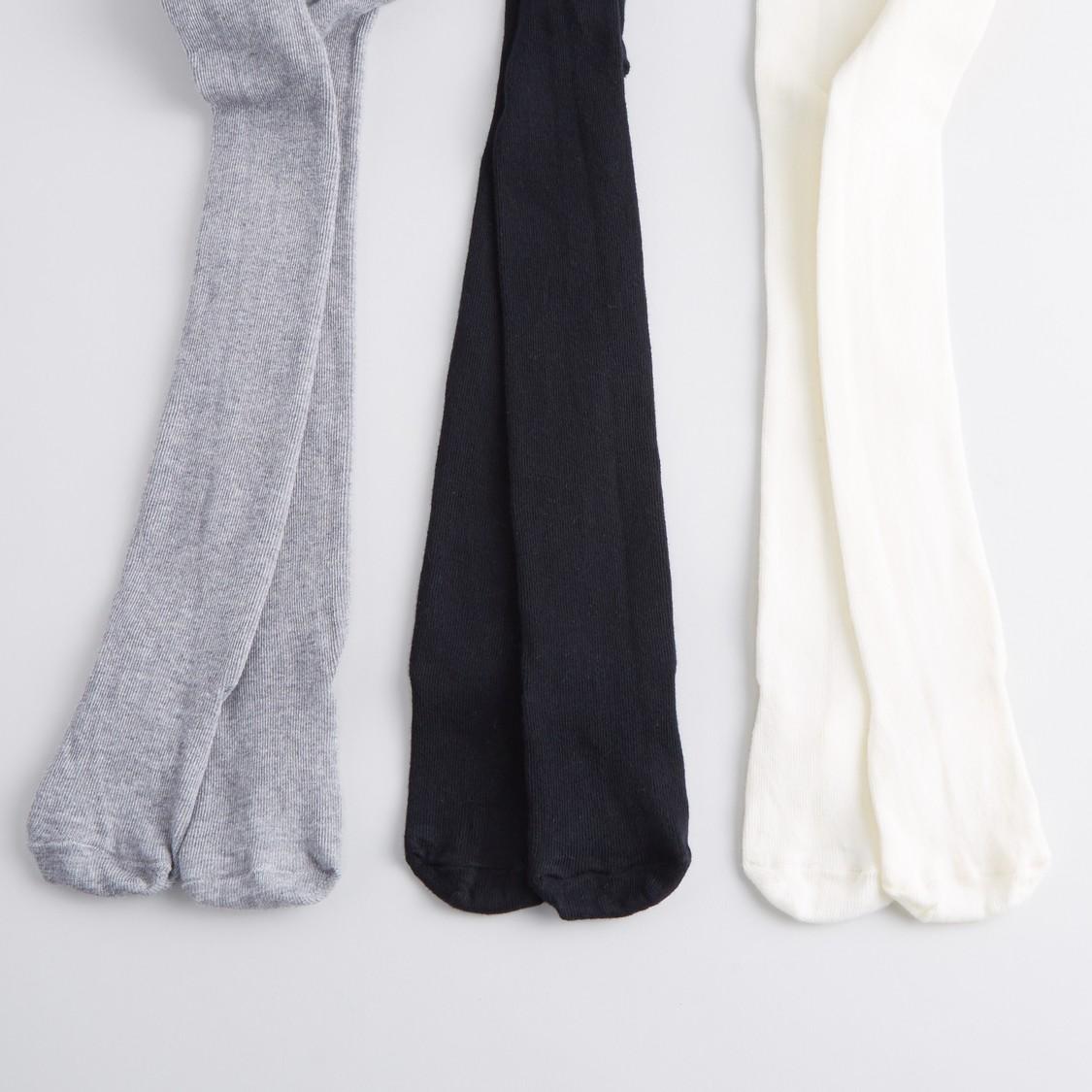 Set of 3 - Full Length Plain Tights