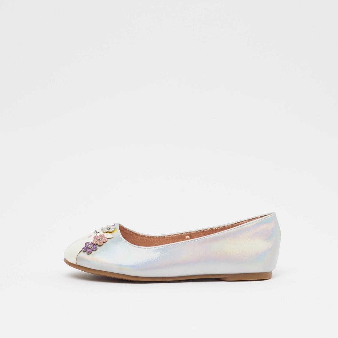 حذاء باليرينا مزيّن سهل الارتداء