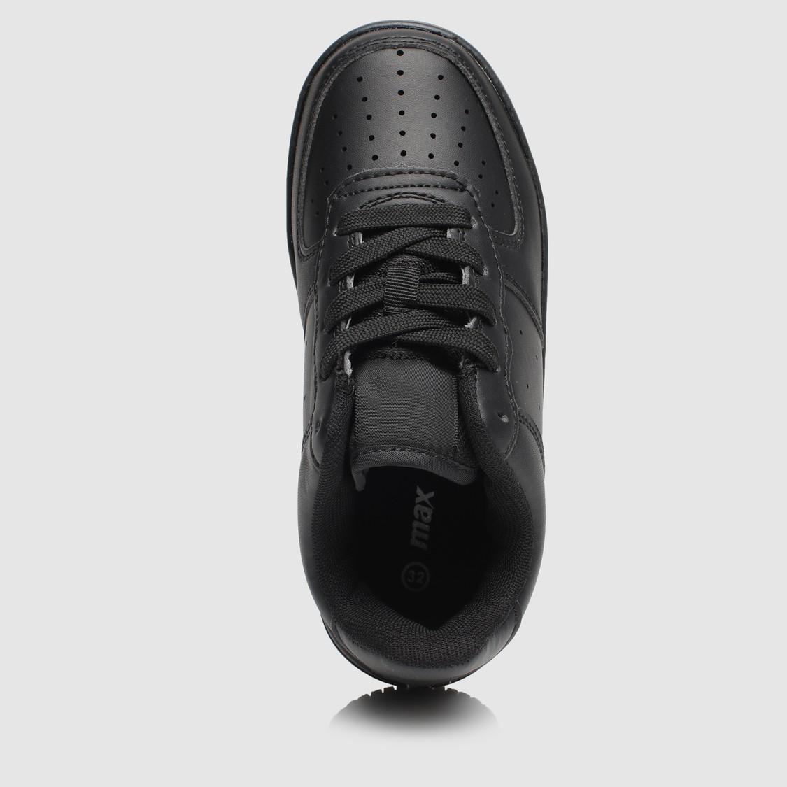 Lace-Up Sport Shoes with Cutwork