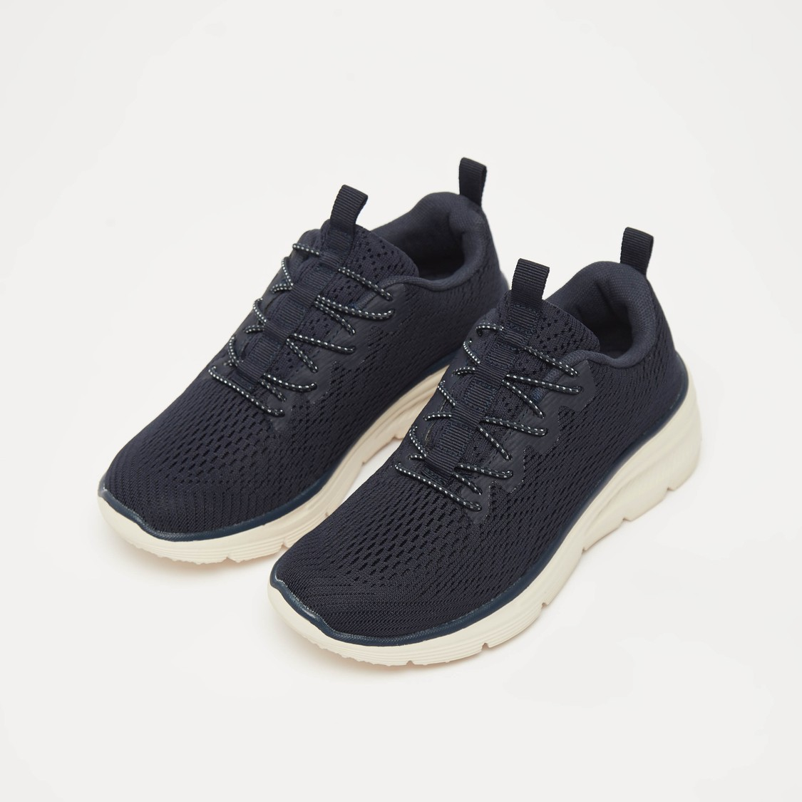 Textured Slip-On Sports Shoes with Pull Tab Detail