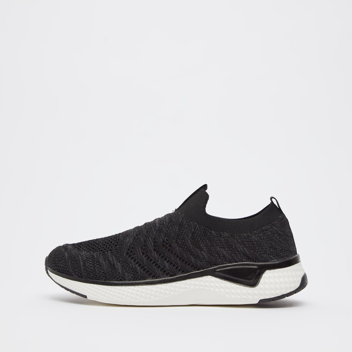 Slip-On Textured Sports Shoes