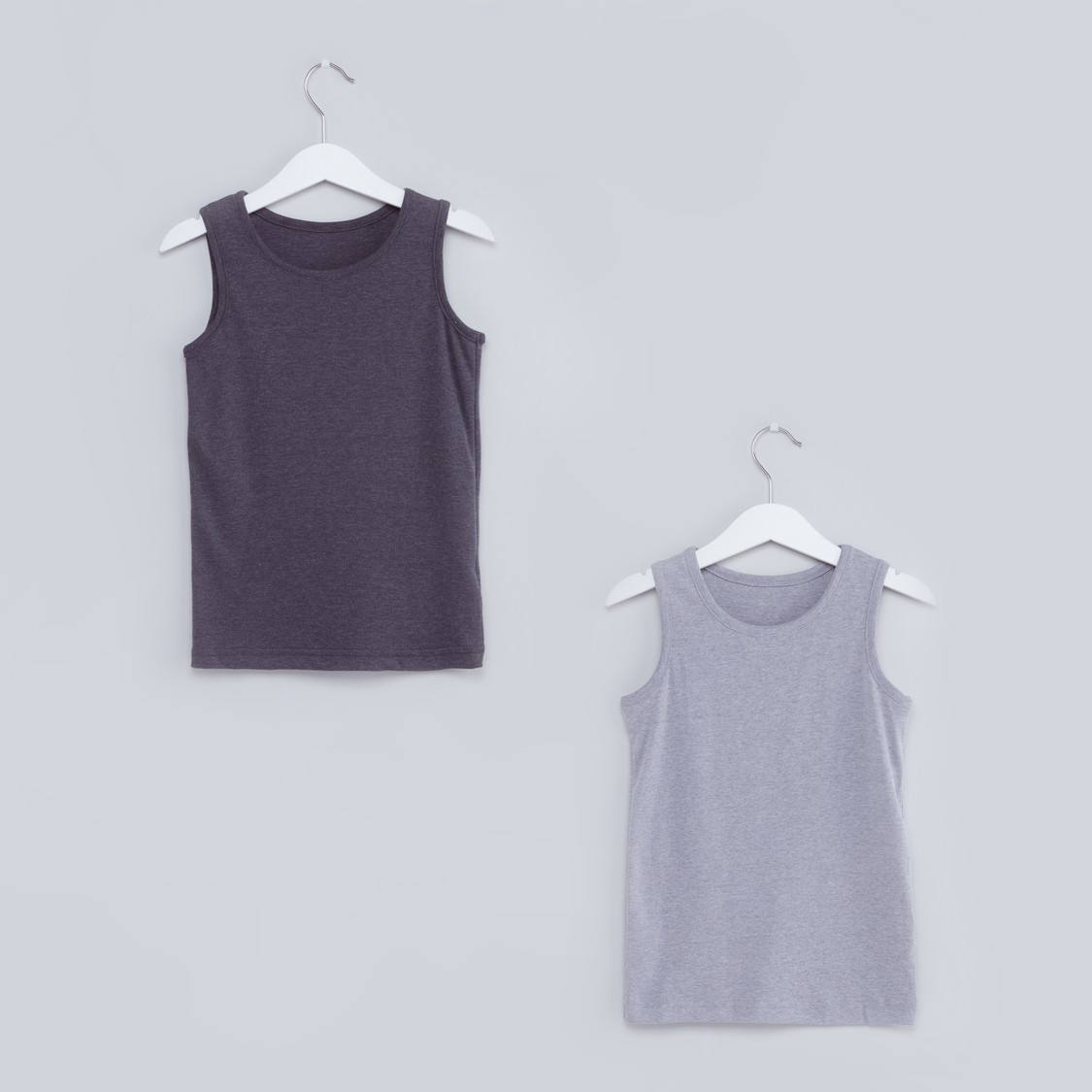 Ribbed Sleeveless Vest - Set of 2