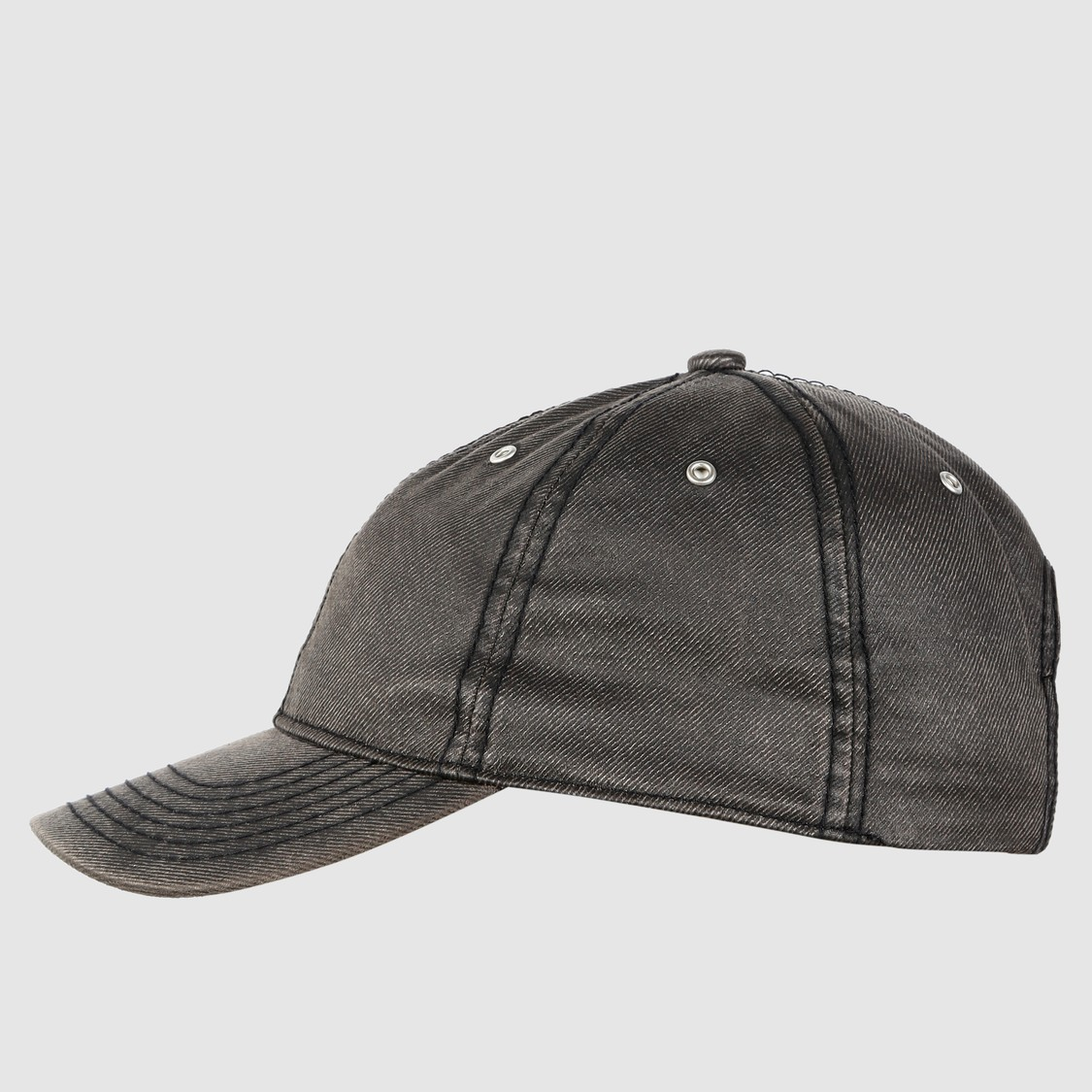 Stitch Detail Cap with Tuck-In Closure