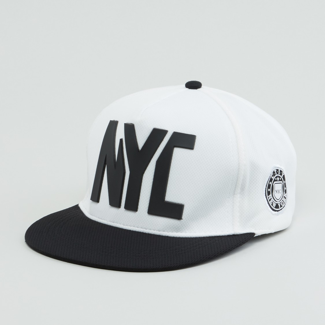 NYC Embossed Cap with Snap Button Closure