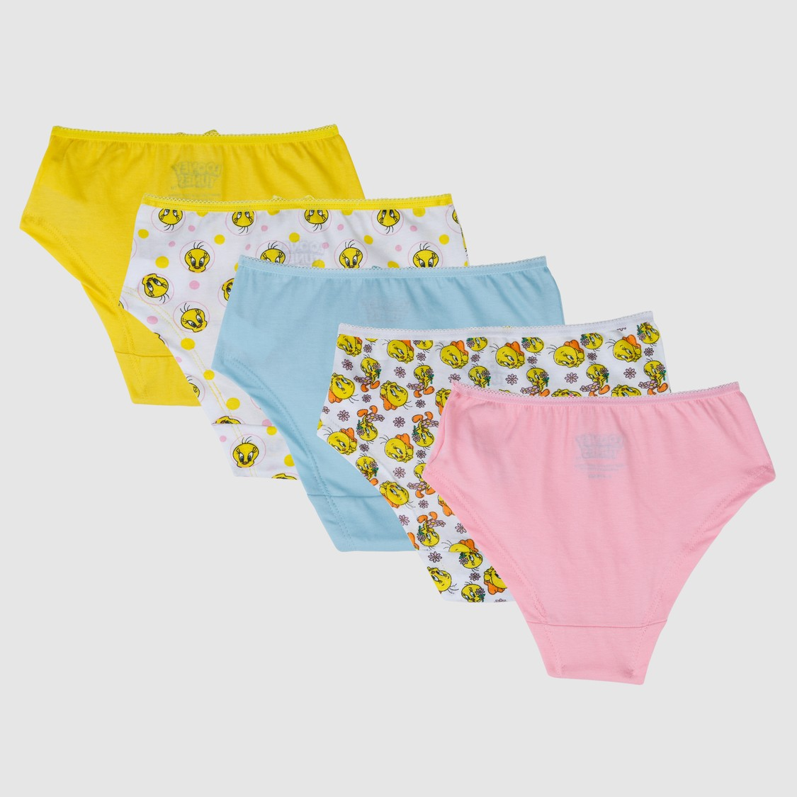 Tweety Printed Briefs with Elasticised Waistband - Set of 5