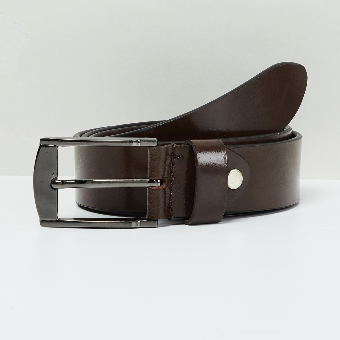 MAX Genuine Leather Solid Formal Belt