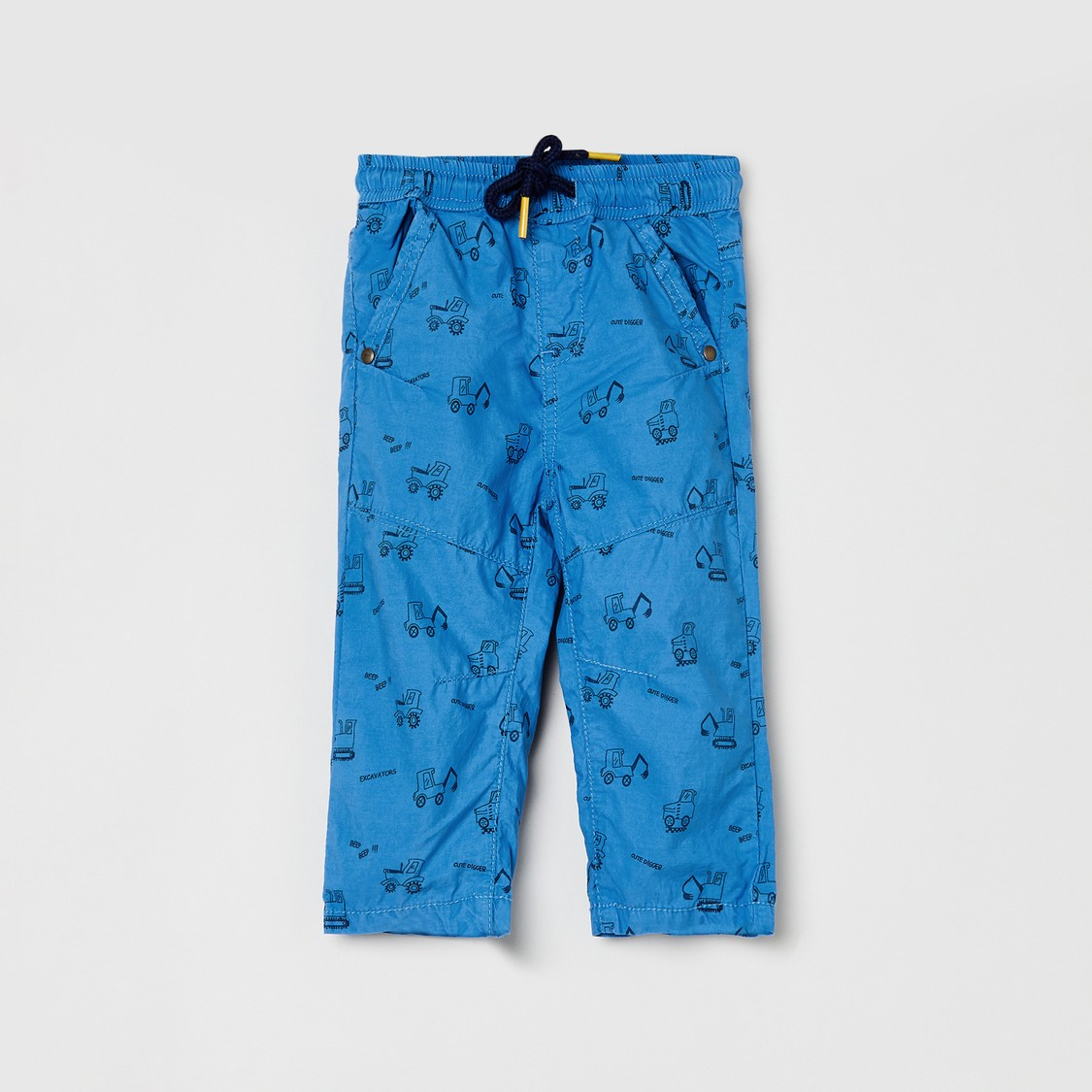 MAX Printed Trousers with Slant Pockets