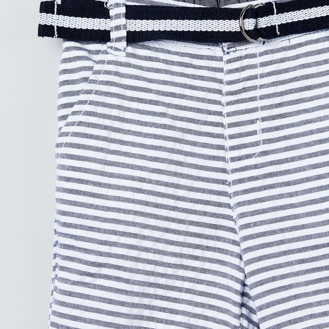 MAX Striped Shorts with Belt