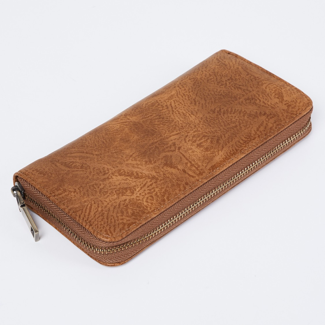 MAX Embroidered Zip-Around Wallet