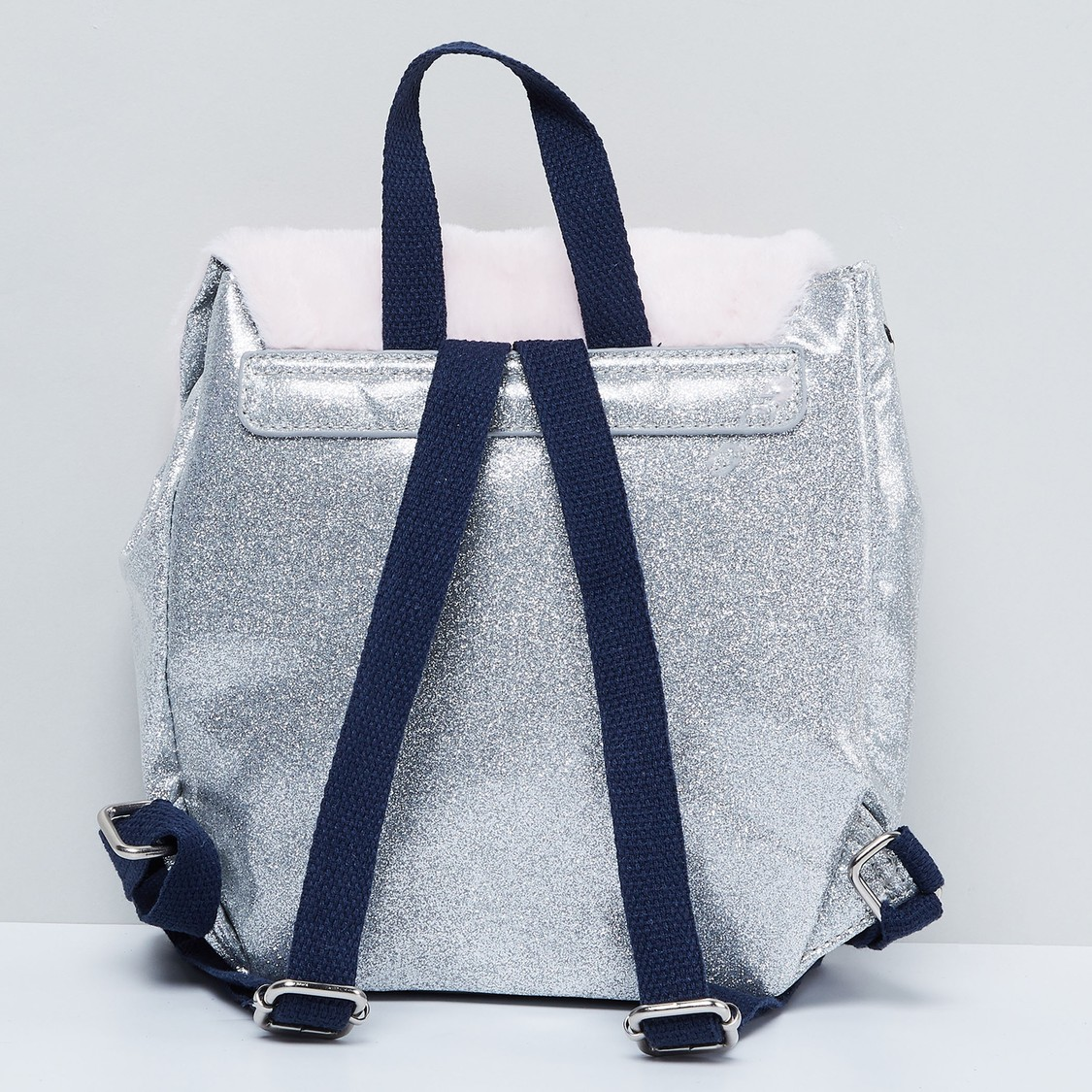MAX Shimmery Backpack with Sequin Embellishments