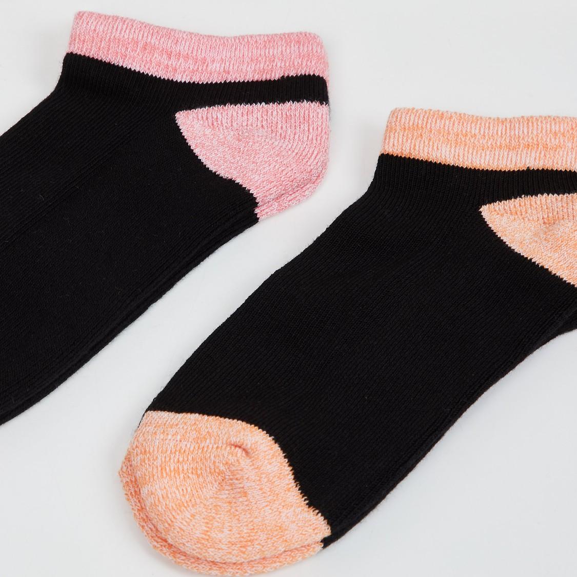 MAX Kids Colourblocked Socks- Set of 2 - 7-10 Y