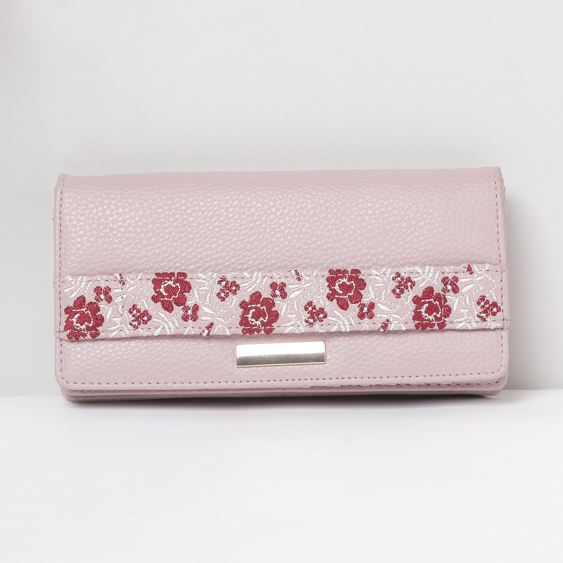 MAX Embroidered Magnetic Closure Wallet