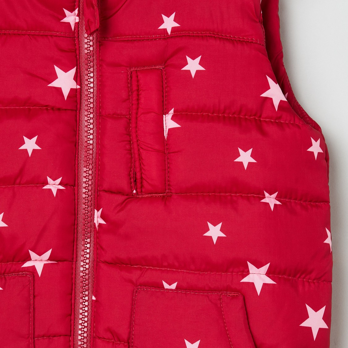 MAX Printed Quilted Sleeveless Jacket