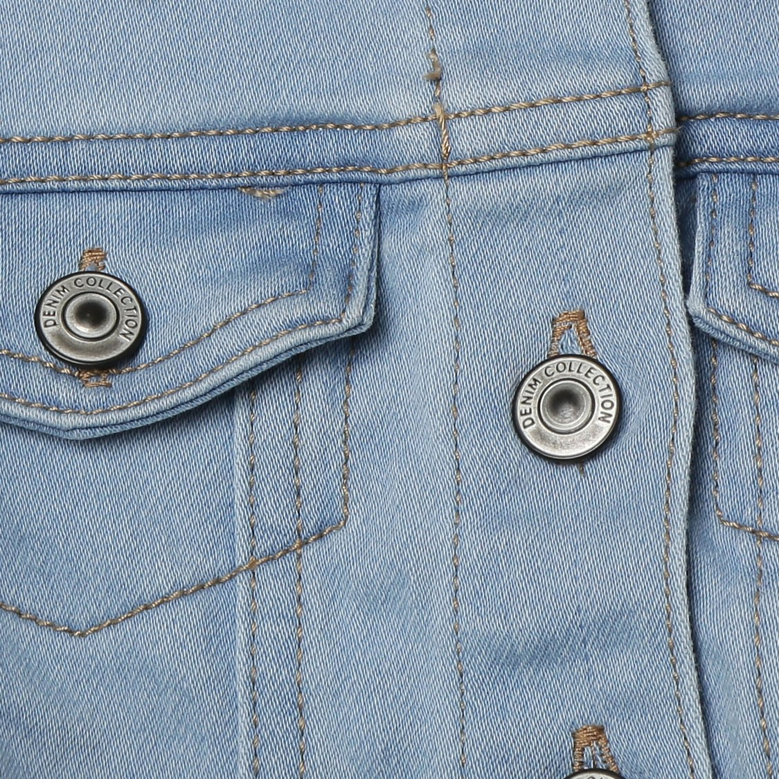 MAX Lightwashed Full Sleeves Denim Jacket