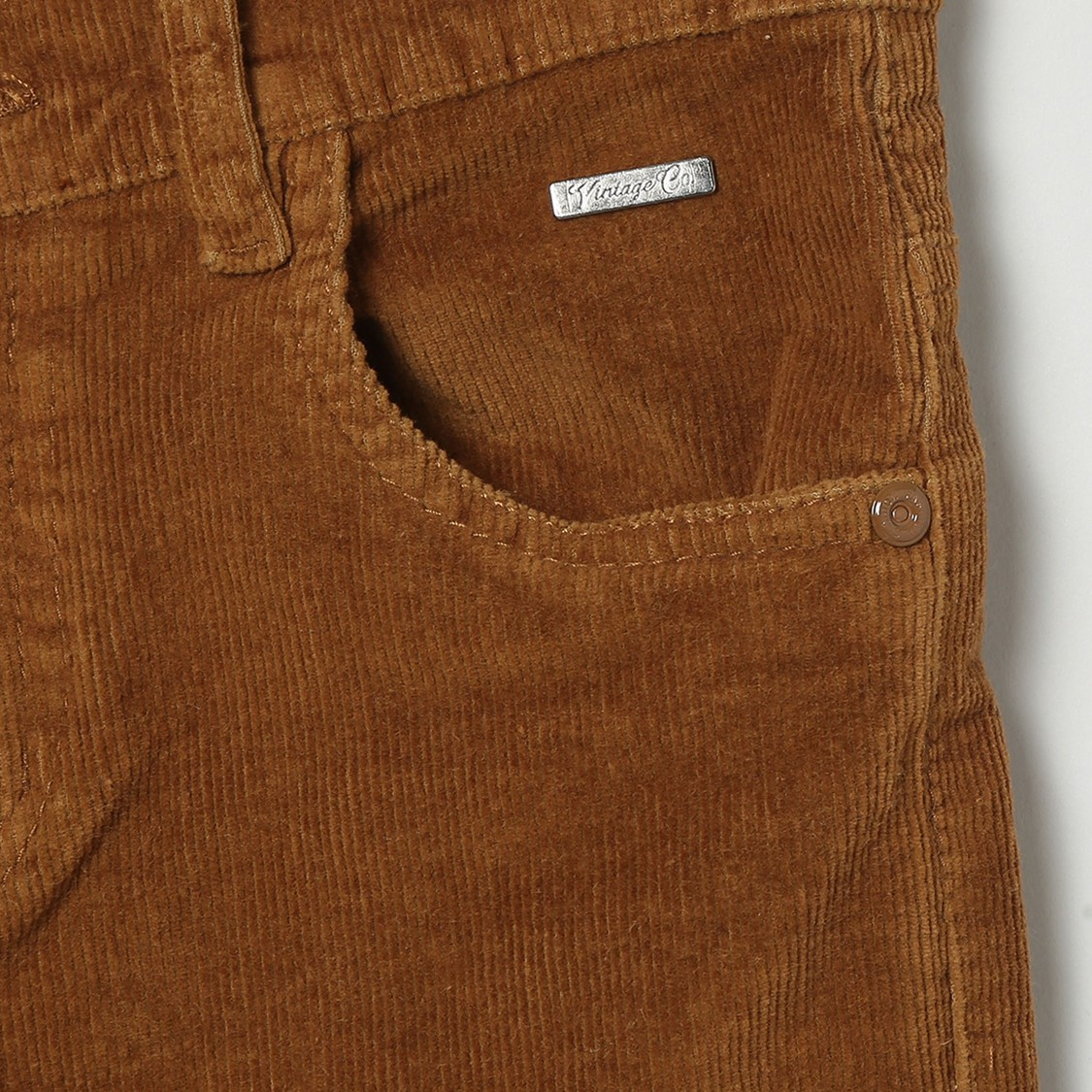 MAX Solid Corduroy Trousers