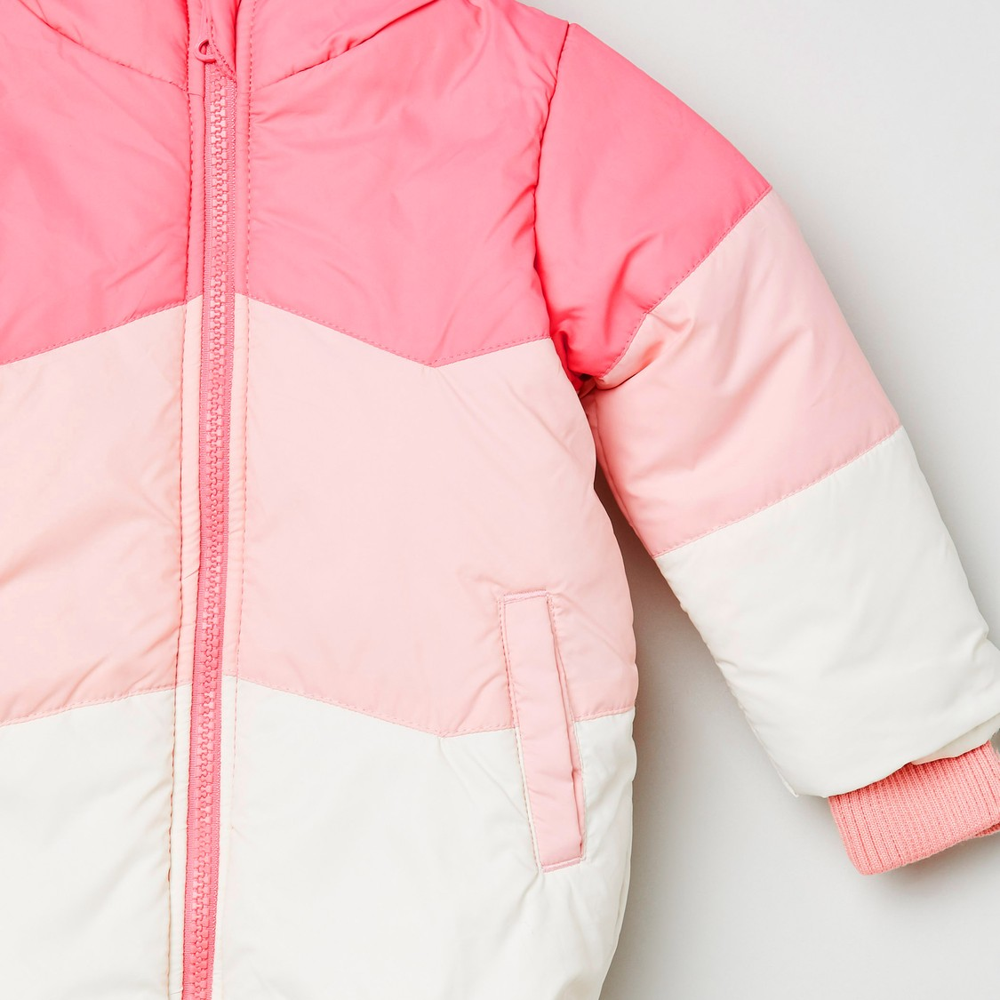MAX Colourblocked Puffed Jacket with Hood