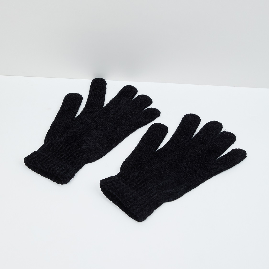 MAX Solid Flat-Knit Gloves