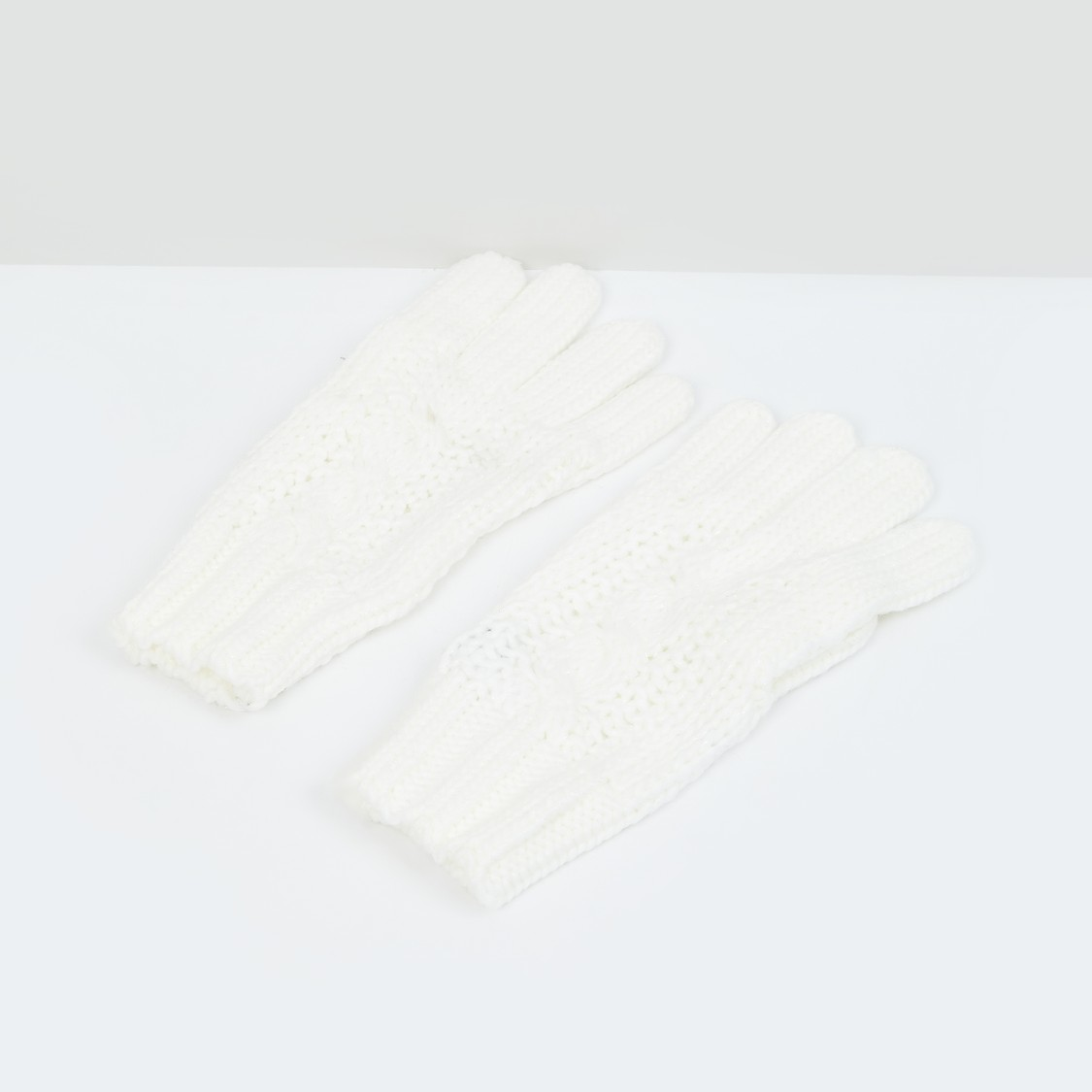 MAX Patterned Flat-Knit Gloves