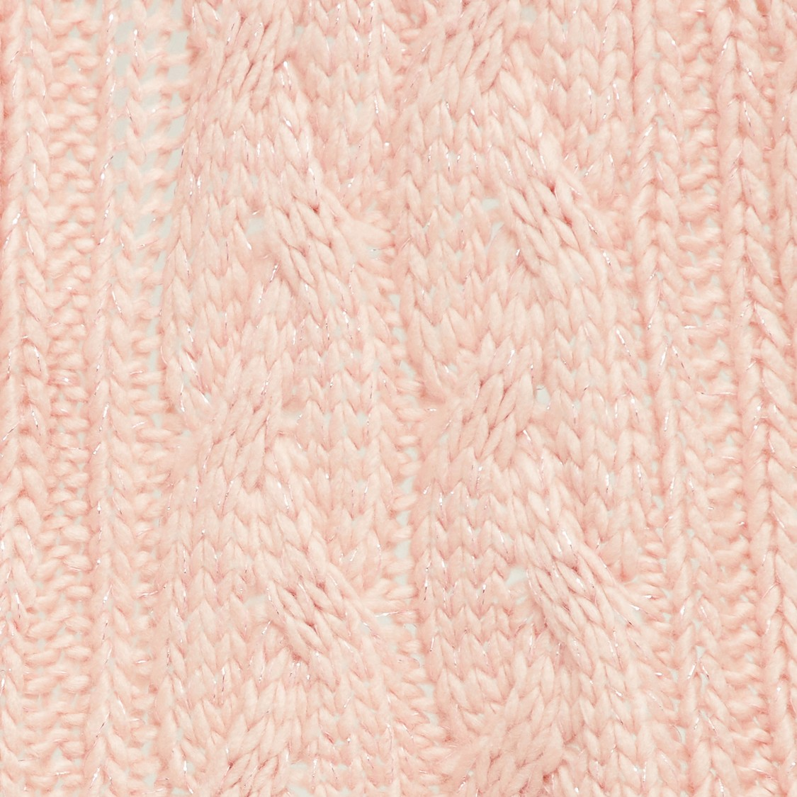 MAX Cable Knit Tassel Detailed Muffler
