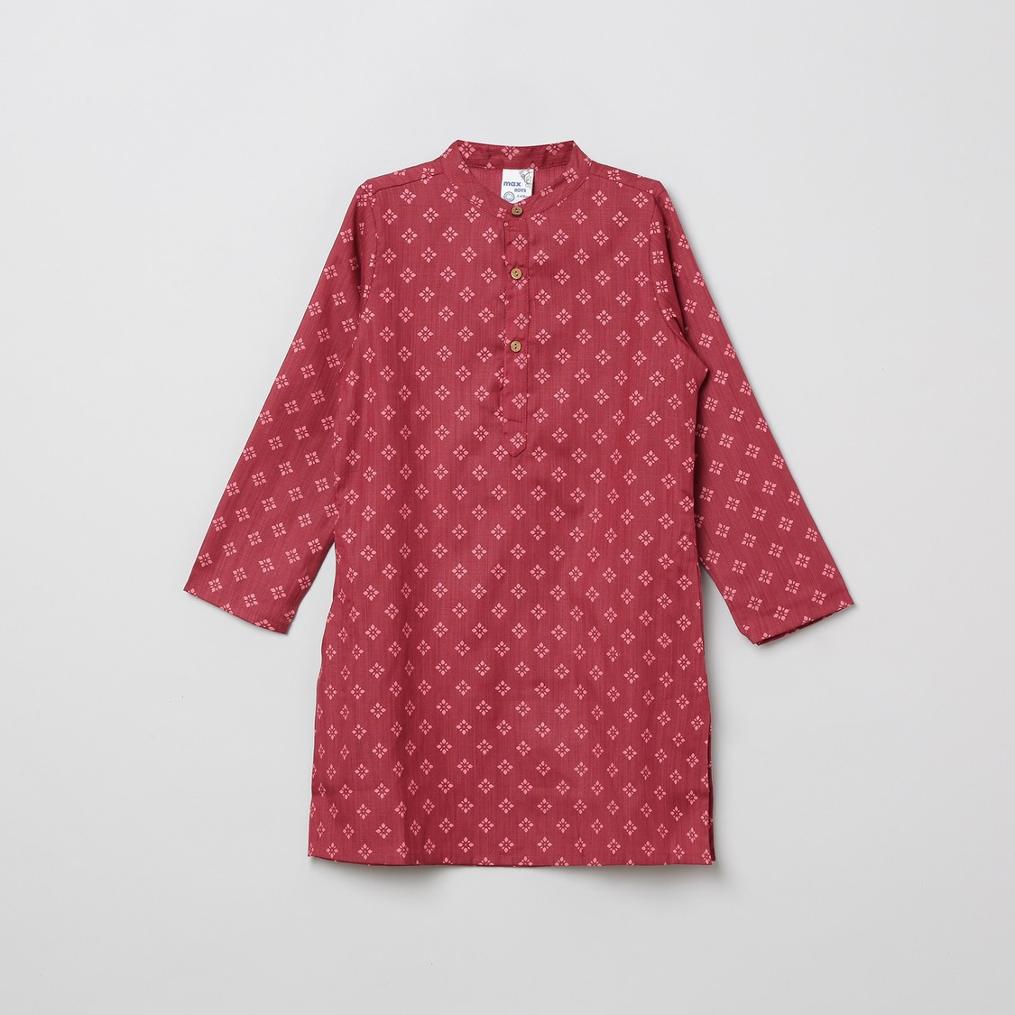 MAX Printed Kurta with Solid Elasticated Pyjama