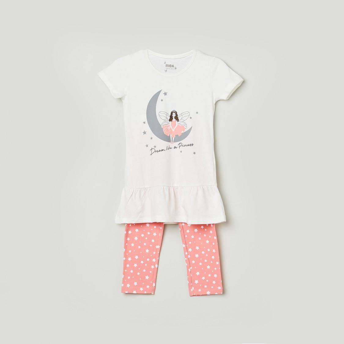 MAX Printed T-shirt and Pant Set