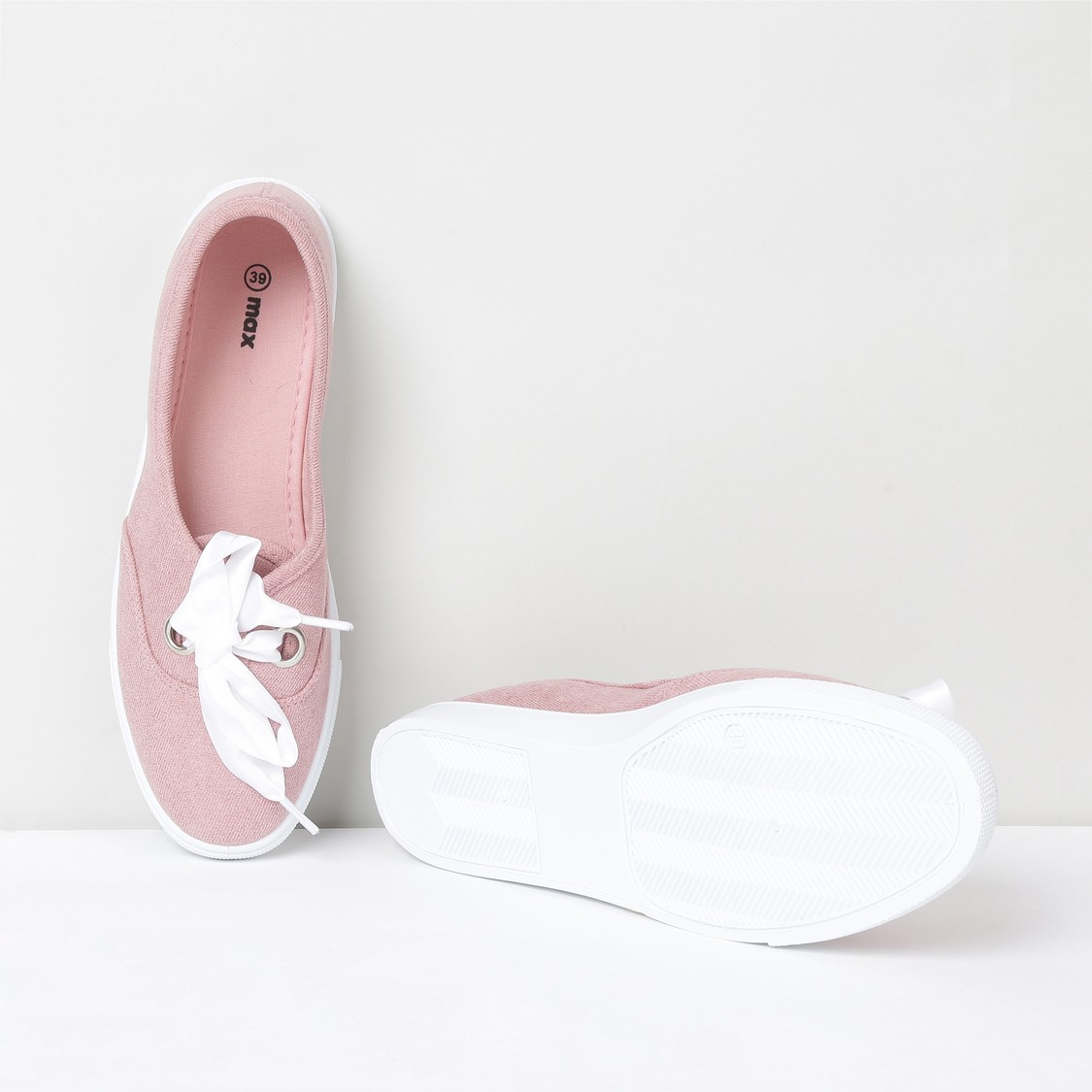 MAX Solid Lace-up Slip-On Casual Shoes