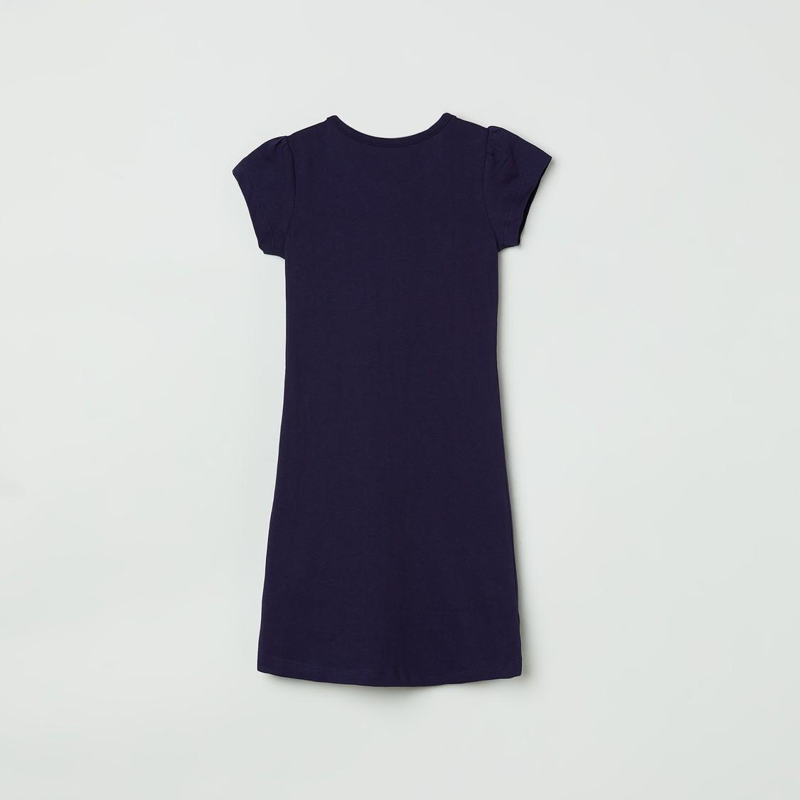 MAX Printed Short Sleeves Night Dress