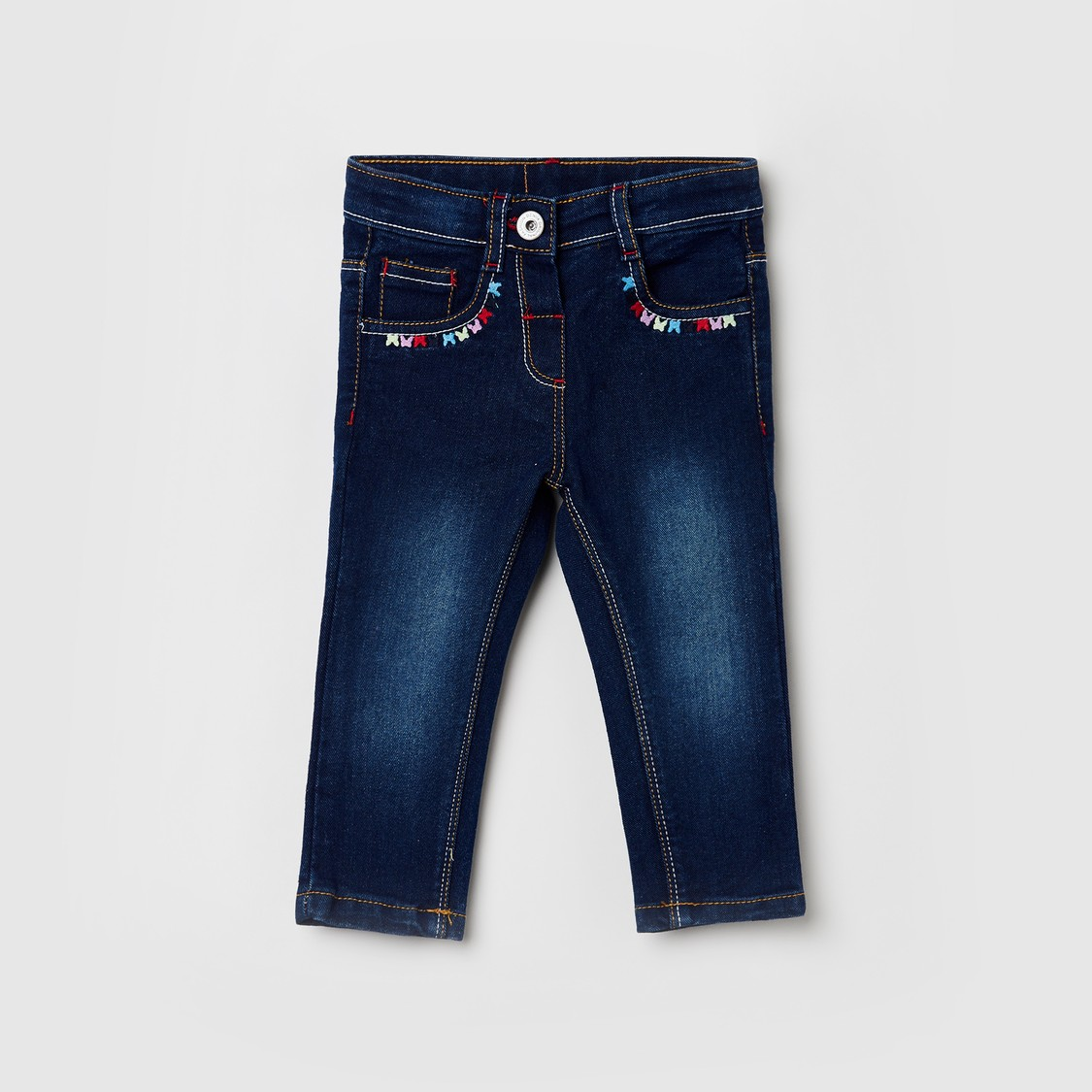 MAX Stonewashed Jeans with Embroidery