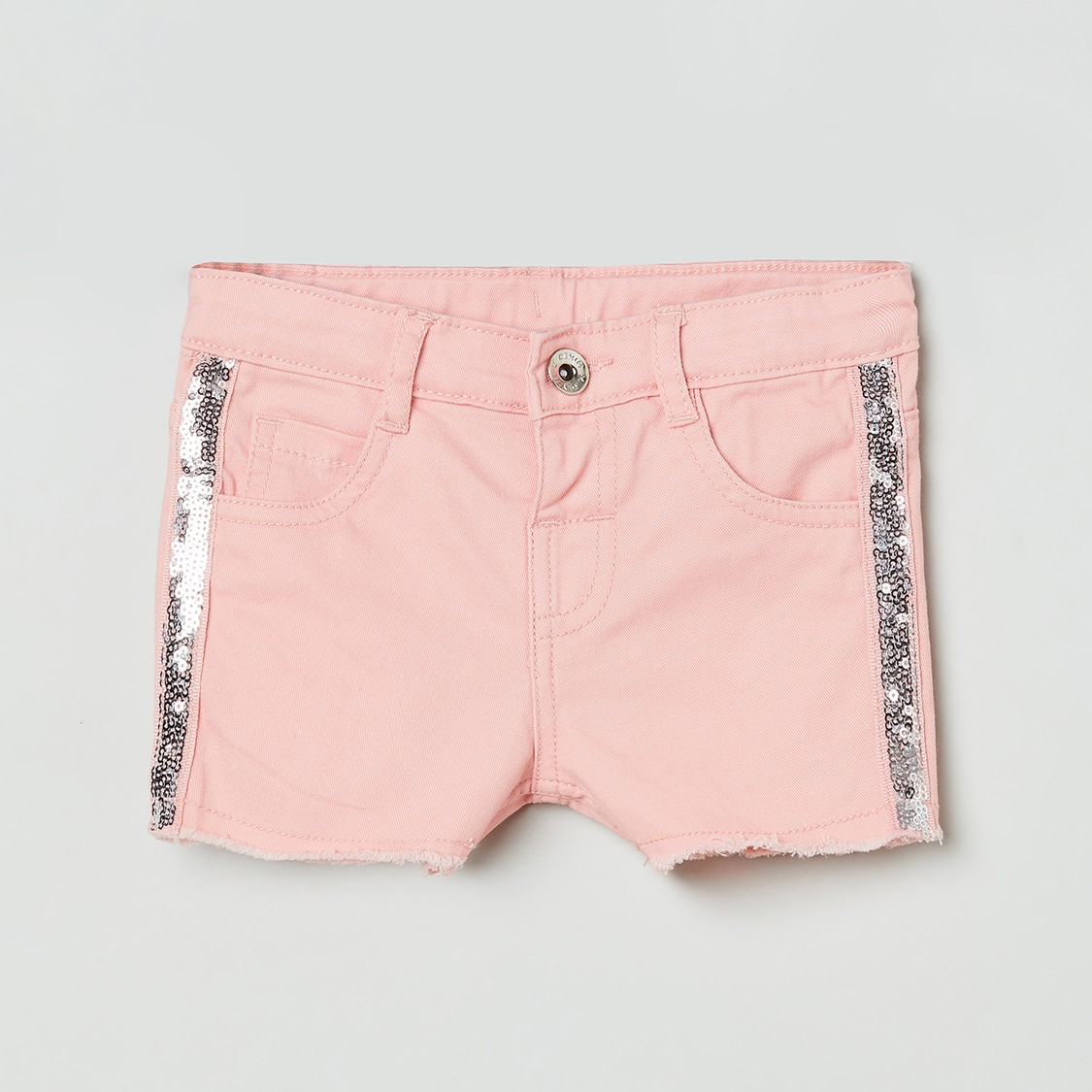 MAX Denim Sequinn Detail Shorts